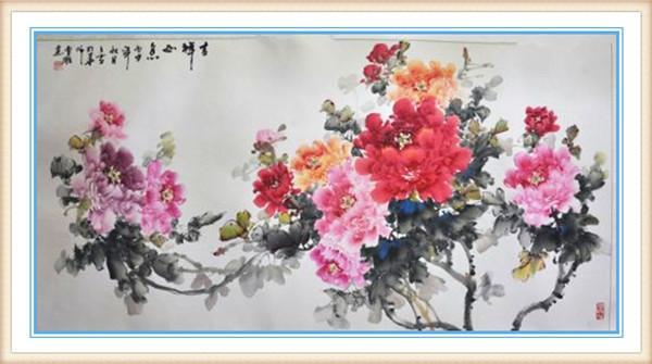 曹雕用笔画出的牡丹花,任是无情亦动人